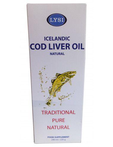 Ulei din ficat de cod natural Lysi 240ml