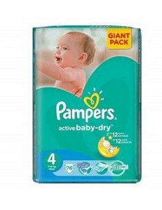 Pampers Active Baby Giant 4 Maxi 7-14 kg x 82 buc