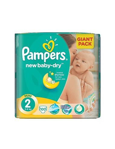 Pampers Active Baby Giant 2 Mini 3-6 kg x 108 buc