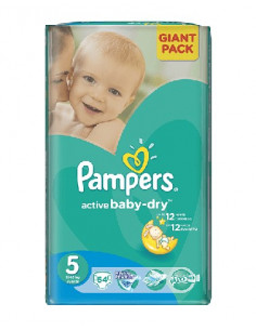 Pampers Active Baby Giant 5 Junior 11-18 kg x 64 buc