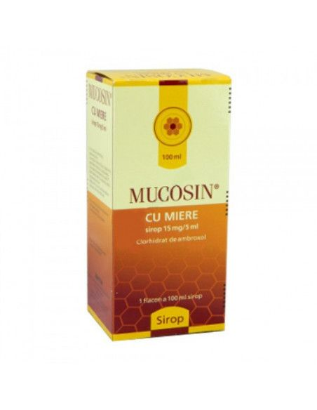 Mucosin sirop cu miere 15mg/5ml x 100 ml