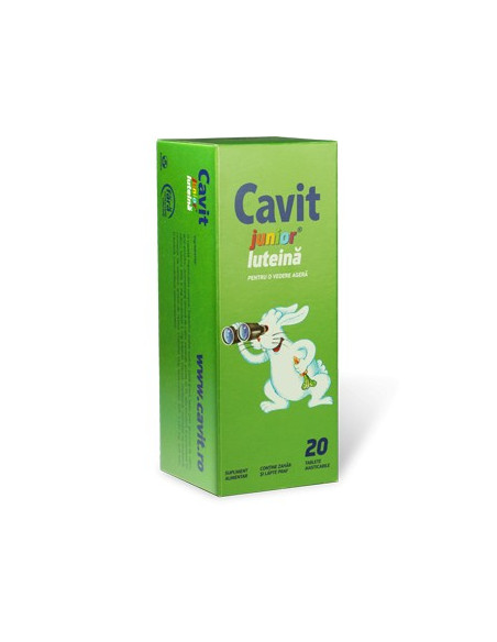 Cavit Junior Luteina x 20 tablete masticabile