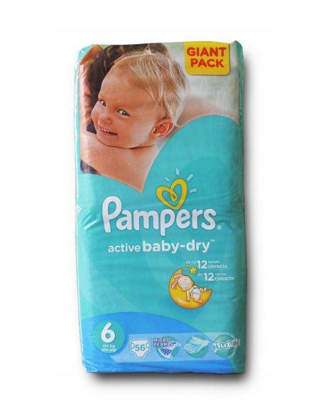 Pampers Active Baby Giant 6 Extra Large 15+ kg x 56 buc