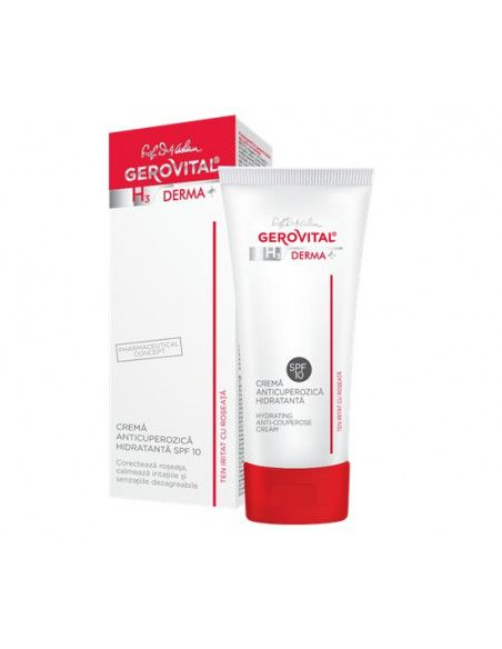 Gerovital H3 Derma+ Crema anticuperozica hidratanta SPF10 x 50ml