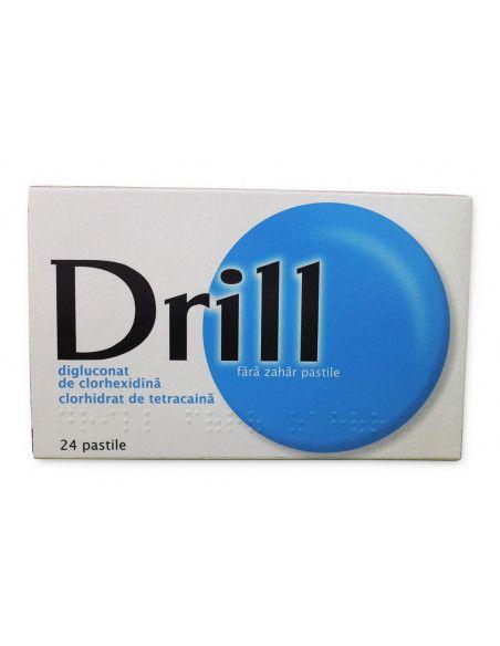 Drill pentru gatul inflamat x 24 pastile de supt fara zahar