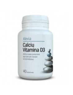 Calciu Vitamina D3 x 40 comprimate (Alevia)