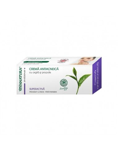 VivaNatura Crema antiacneica x 20 ml