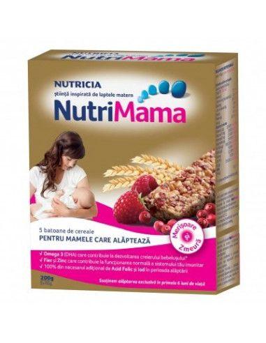 NutriMama x 5 batoane de cereale cu merisoare si zmeura