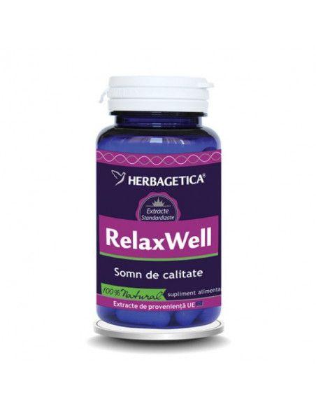 Herbagetica RelaxWell x 60 de capsule