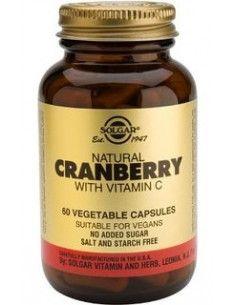 Solgar Cranberry ( Merisoare) cu vitamina C x 60 de capsule vegetale