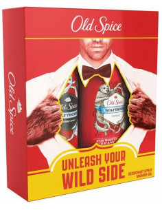Caseta Old Spice WolfThorn Deo Spray 125 ml + Gel de dus x 250 ml