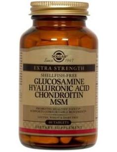 Solgar Glucozamina, Acid hialuronic, Condoitrina, MSM x 60 de tablete