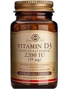Solgar Vitamina D3 2200 UI x 50 de capsule vegetale
