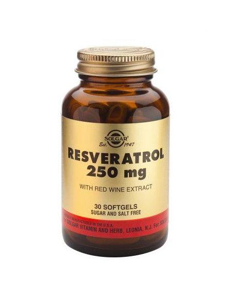 Solgar Resveratrol 250 mg x 30 de capsule moi