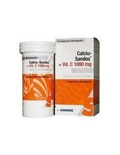 Calciu Sandoz cu Vitamina C 1000mg x 10 cp eff