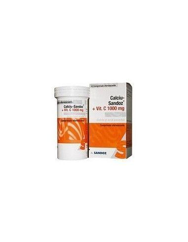 Calciu Sandoz cu Vitamina C 1000mg