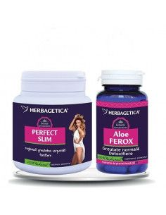 Herbagetica PerfectSLIM x 210grame + AloeFEROX x 60 caspule