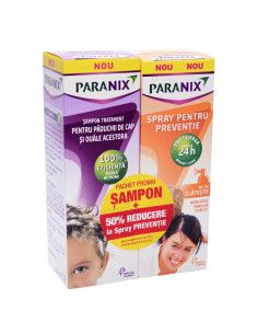 Paranix sampon 100ml + Paranix Spray preventie 100ml 50%