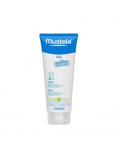Mustela Bebe 2 in 1 gel curatare pentru par si corp 200ml