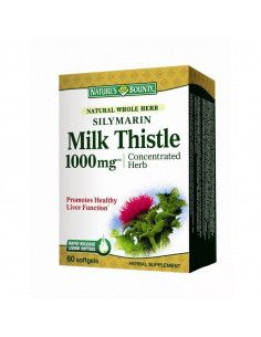 Nature's Bounty Silymarin Milk Thistle 1000mg x 60 capsule