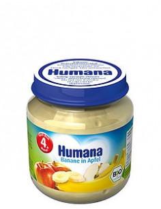 Humana Piure Banane si Mar 125g