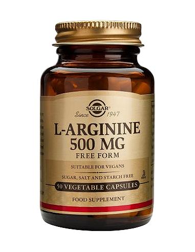 Solgar L-Arginine 500mg 50 capsule vegetale