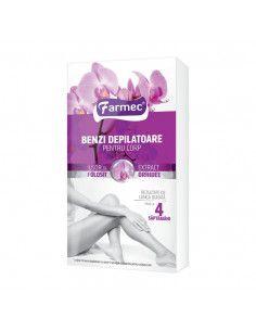 Farmec Benzi depilatoare pentru corp cu extract orhidee x 14 benzi