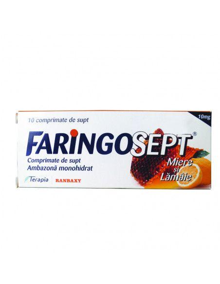 Faringosept 10mg (aroma de miere si lamaie) x 10 comprimate