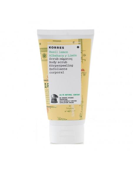 Gel exfoliant de corp cu extracte de busuioc si lamaie, 150ml, Korres