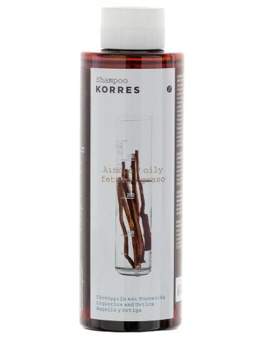 Sampon cu extracte de urzica si lemn dulce, 250ml, Korres