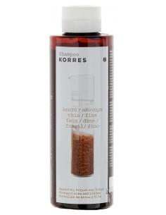 Sampon cu proteine din orez si extract de lime, 250ml, Korres
