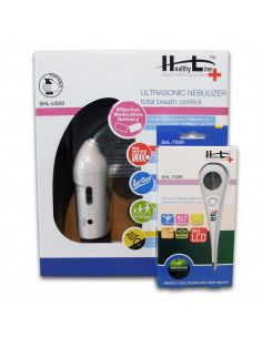 Aparat aerosoli cu ultrasunete portabil SHL US-20, Healthy Line + Termometru digital cu cap flexibil Cadou