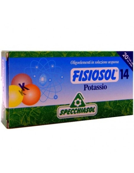 Fisiosol Potasiu14, 20 fiole buvabile, Specchiasol
