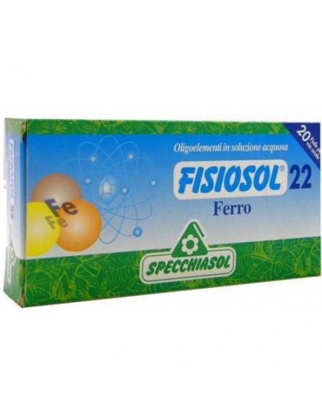 Fisiosol22 Fier, 20 fiole buvabile, Specchiasol