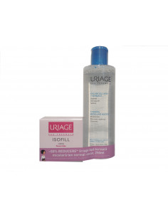 URIAGE Isofill crema riche 50ml + Apa micelara demachianta ten normal-uscat 250ml, 50% reducere