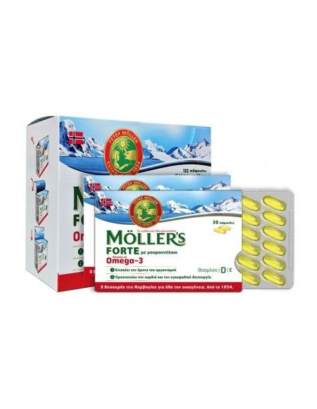 Moller's Cod Liver Oil Forte, 150 capsule