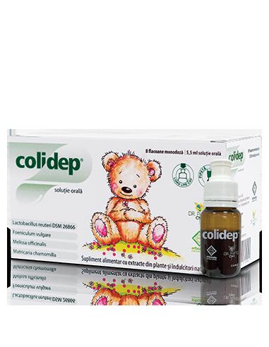Colidep solutie orala, 8 flacoane x 5,5ml, Dr. Phyto