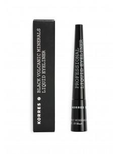 Tuș pentru ochi profesional Negru cu minerale vulcanice, 2.5 ml, Korres
