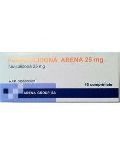 Furazolidona 25mg x 10 comprimate