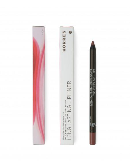 Creion de buze cu grad mare de remanență cu ulei de semințe de bumbac nuanță 02 Neutral Dark, 1.2g, Korres