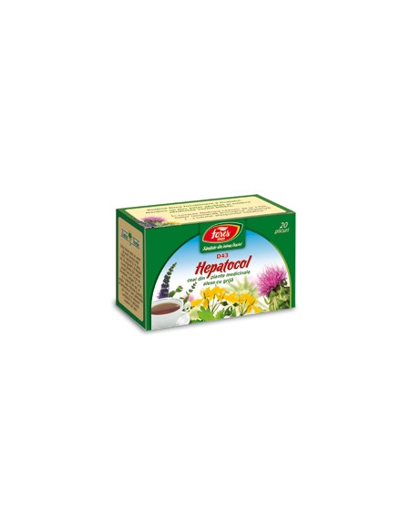 Ceai Hepatocol, 20 plicuri, Fares