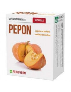 Pepon capsule cu ulei de dovleac, 30 capsule, Parapharm