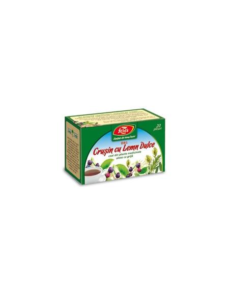 Ceai crusin cu lemn dulce, 20 plicuri, Fares