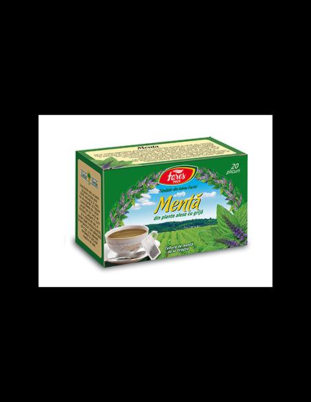 Ceai menta, 20 plicuri, Fares