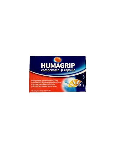 Humagrip Răceală şi Gripă x 16 comprimate + capsule
