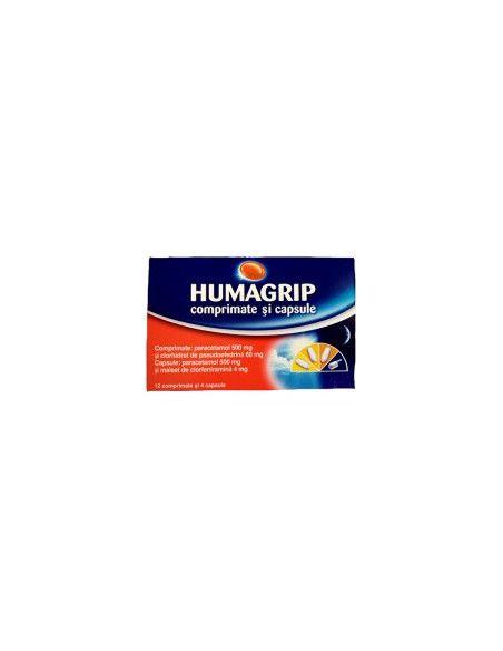Humagrip Raceala şi Gripa x 12 cpr + 4 cps