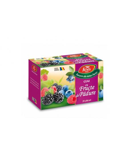Ceai cu Fructe de Padure, 20 plicuri, Fares