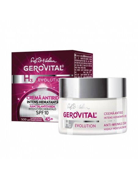 Gerovital H3 Evolution Crema Antirid Intens Hidratanta SPF 10, 50ml