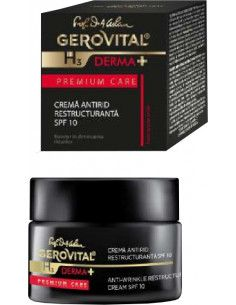 Gerovital H3 Derma+ Premium care crema antirid restructuranta SPF10, 50ml