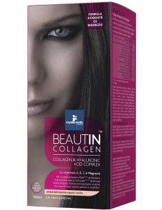 Beautin Collagen Lichid + Magneziu cu aroma Capsuni-Vanilie 500 ml